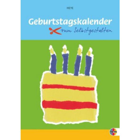 Geburtstagskalender zum Selbstgestalten klein  A4