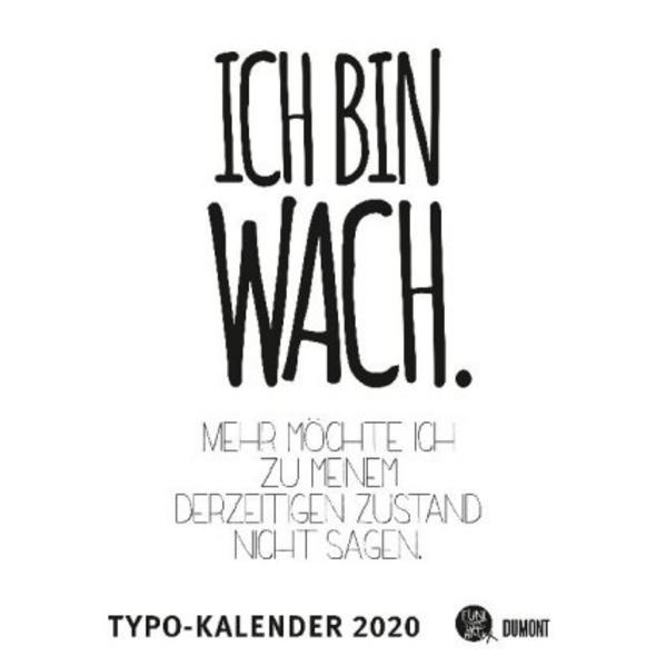 Sprüche-Kalender 2020 - Typo-Kalender von FUNI SMA