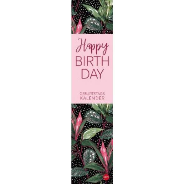 Tropical Leaves Geburtstagskalender long Kalender