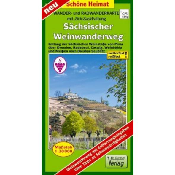 Wander- und Radwanderkarte Sächsischer Weinwanderw