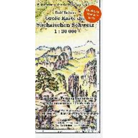 Große Karte der Sächsischen Schweiz 1 : 30 000