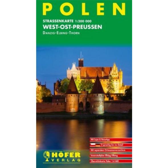 Höfer Polen PL011. West-Ost-Preussen 1 : 200 000