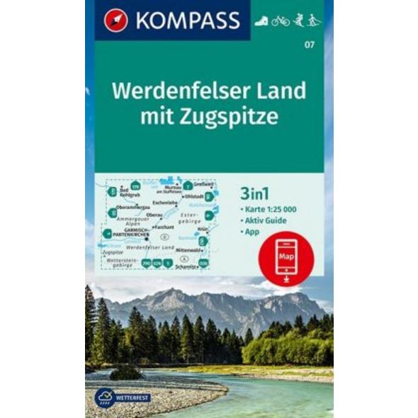 KV WK 07 Werdenfelser Land 25T 1:25 000