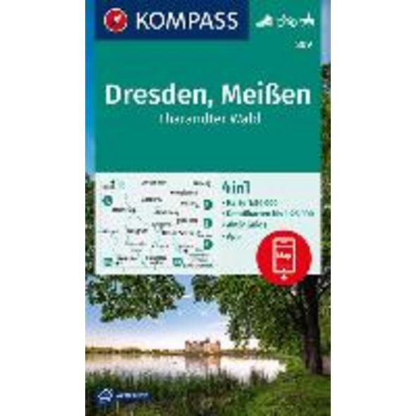 KOMPASS Wanderkarte Dresden, Meißen, Tharandter Wa