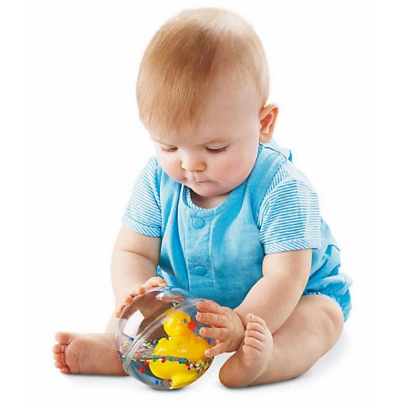 Fisher-Price Entchenball, Baby-Spielzeug, Badewannen-Spielzeug, Baby Ball
