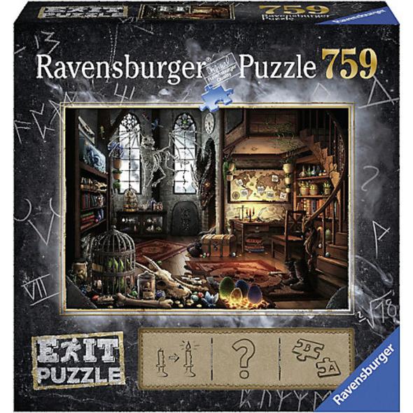 EXIT Puzzle 759 Teile, 70x50 cm, Exit 5: Im Drachenlabor