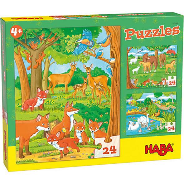 HABA 305468 Puzzles Tierfamilien