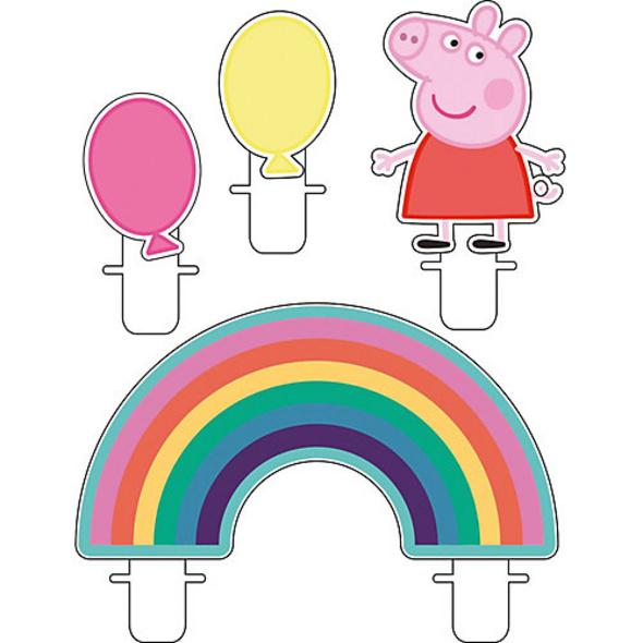 Mini-Figurenkerzen Peppa Pig, 4 Stück