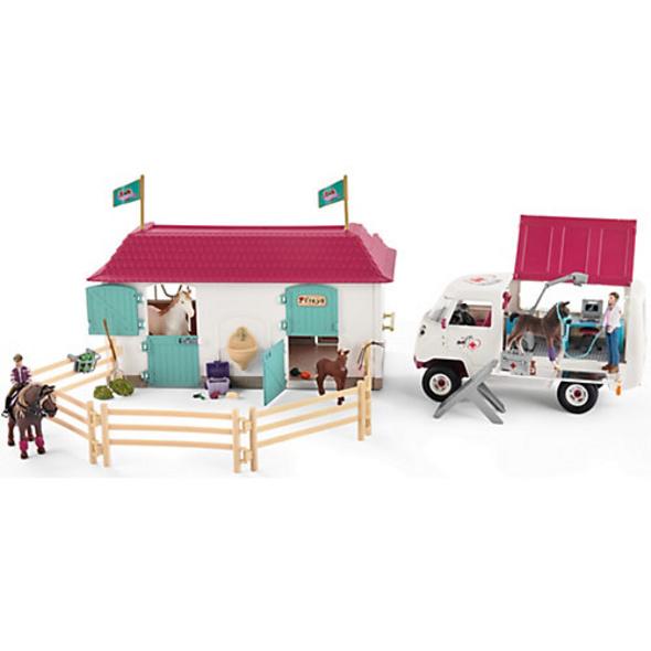 Exkl. Schleich 72147 Horse Club: Tierarztbesuch im Stall