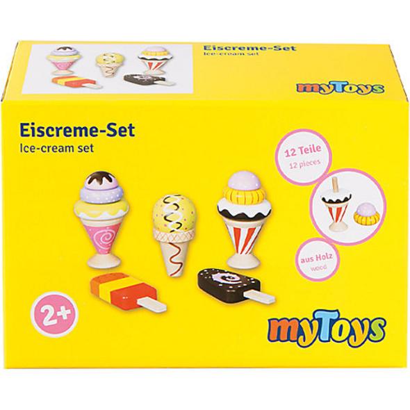 Kaufladen Eiscremeset, 12-tlg. Spiellebensmittel