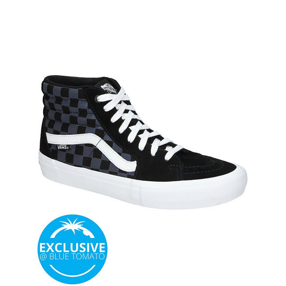 Reflective Checkerboard Sk8-Hi Pro Skate Shoes