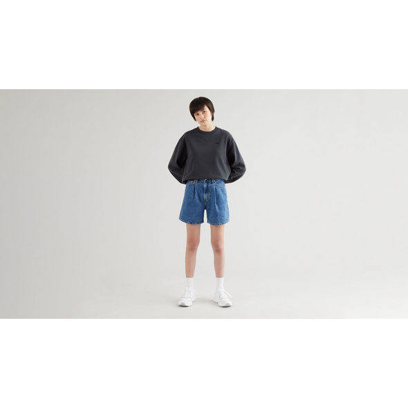 PLEATED RIBCAGE SHORT NOW AND THEN SHORT
