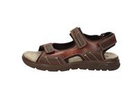 Sandale aus dunkelbraunem Glattleder
