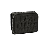kompakte Geldbörse mit Krokodilprägung - Kroko Pablita