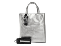 Handtasche aus Leder in Metallic - Metallic Paper Bag Tote S