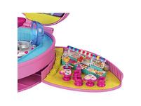 Polly Pocket Freizeitpark Rucksack mit 2 Puppen, Zubehörteilen und zahlreichen Spielmöglichkeiten