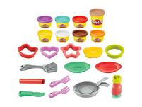 Play-Doh Kitchen Creations Pancake Party 14-teiliges Spielset für Kinder ab 3 Jahren mit 8 Play-Doh Farben