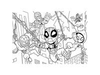 Puzzle 60 Teile, Happy Color Double Face - Marvel Superhero