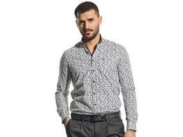 Langarmhemd mit stylischem All-Over Print