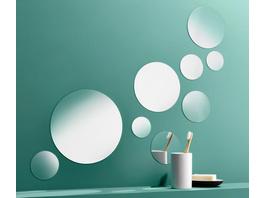 9 selbstklebende Spiegelsticker