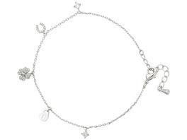 Armband mit Anhänger - Sparkling Cloverleaf