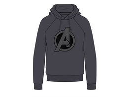 Marvel Avengers - Hoodie Logo grau (Größe M)