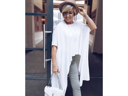 Feinstrick Pullover in Weiß