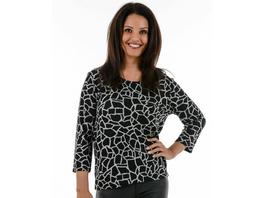 Melange Shirt mit Mosaik-Print