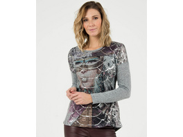 Sweatshirt mit Frauenprint