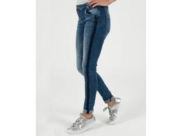 Jeans mit schräger Knopfleiste