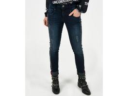 Jeans mit seitlichem Leoprint