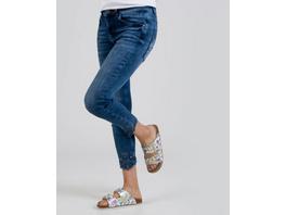 Jeans mit Saumstickerei