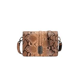 kastenförmige Tasche zum Umhängen mit Schlangenhautprägung - Carol Snake Crossbody M