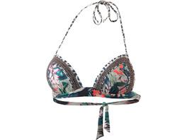watercult Floral Camo Bikini Oberteil Damen