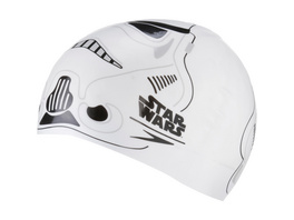 SPEEDO SLOGAN PRT CAP JU WHITE/GREY Badekappe Kinder