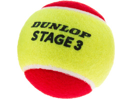 Dunlop STAGE 3 RED 3er Tennisball Kinder
