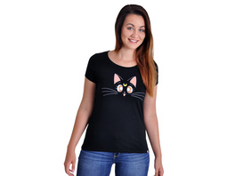 Sailor Moon - Luna Girlie Shirt schwarz