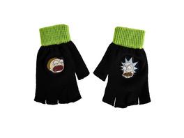 Rick and Morty - Fingerlose Faces Handschuhe schwarz