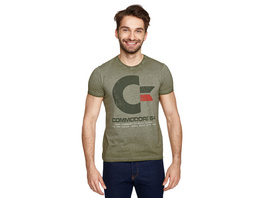 Commodore 64 - Vintage Logo T-Shirt oliv