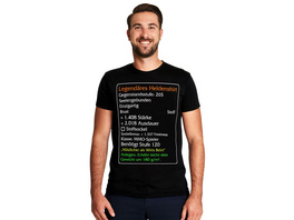 Level-120-Item Legendäres Helden T-Shirt schwarz