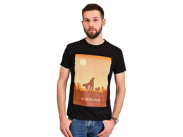 The Mandalorian Retro Poster T-Shirt schwarz - Star Wars