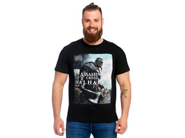 Assassins Creed - Valhalla Cover T-Shirt schwarz