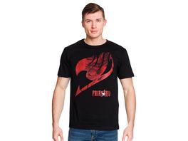 Fairy Tail - Logo mit Natsu T-Shirt schwarz