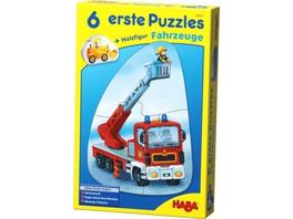 6 erste Puzzles - Fahrzeuge