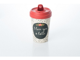 Becher BambooCUP - I love you a latte