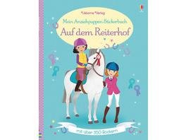 Mein Anziehpuppen-Stickerbuch: Auf dem Reiterhof