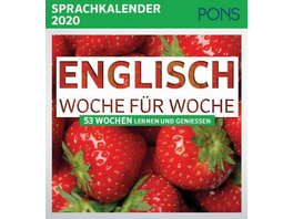 PONS Sprachkalender 2020 Englisch Woche für Woche