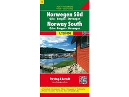 FuB Norwegen 01 Süd 1 : 250 000. Autokarte