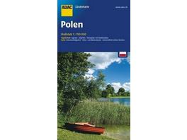 ADAC Länderkarte Polen 1 : 700 000
