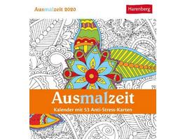 Ausmalzeit 2020 Postkartenkalender